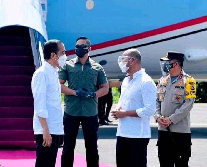 Joko Widodo disambut Gubernur NTT/BPMI